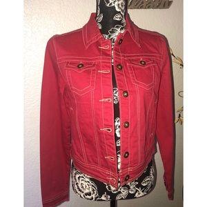 💜3 for $36 SALE💜Jou Jou Red Jean Jacket